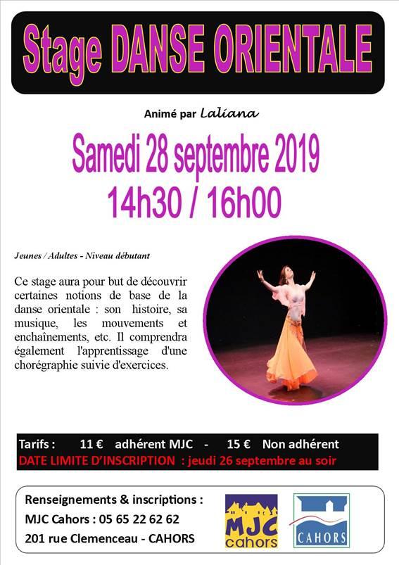 Figeac : Stage de Danse Orientale à la MJC