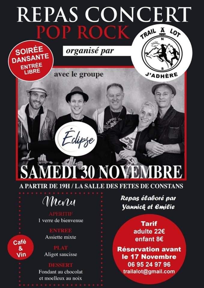 Figeac : Repas Concert Trail a Lot