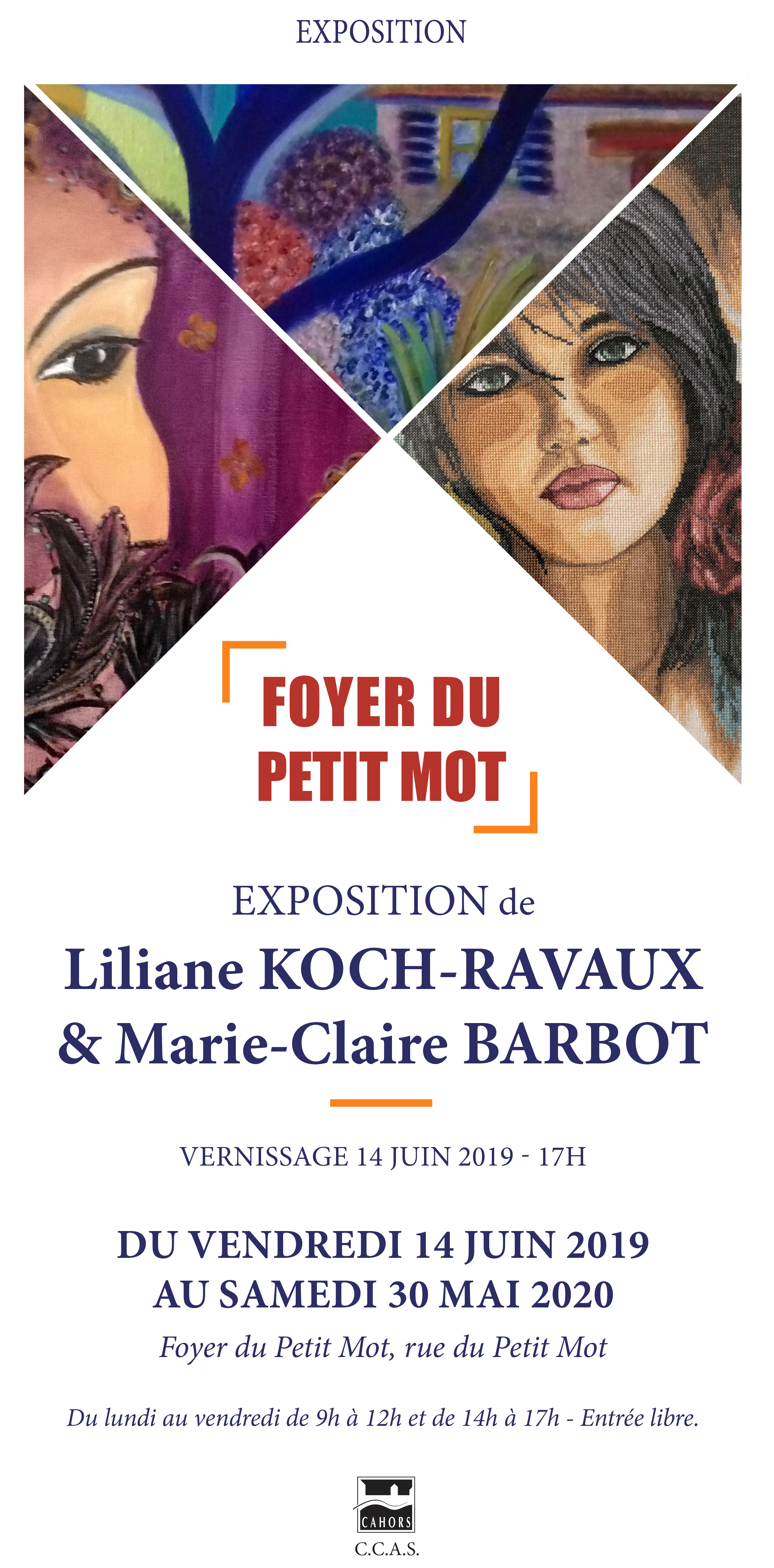 Figeac : Exposition : Liliane Kock-Ravaux & Marie-Claire Barbot