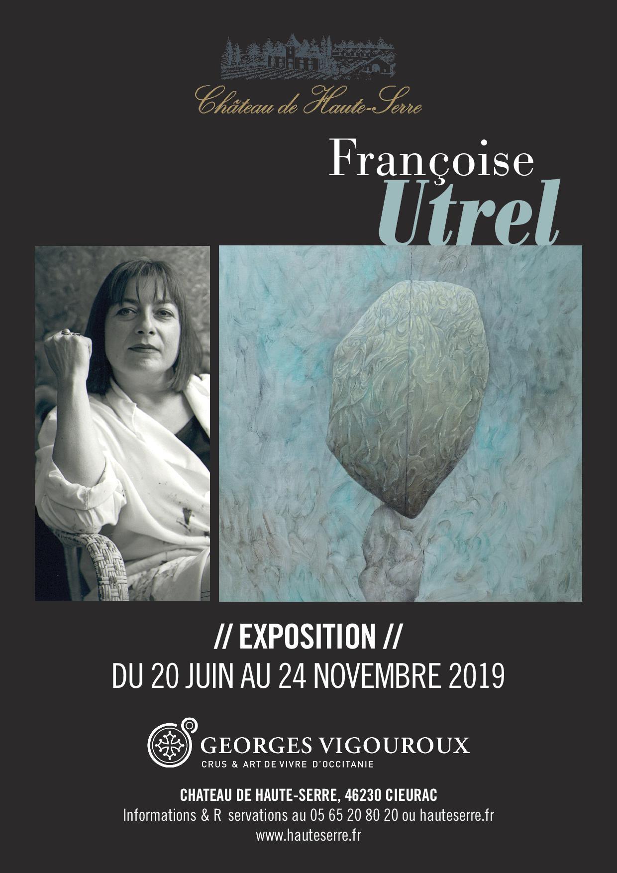 Figeac : Exposition : Françoise Utrel au Château de Haute-Serre