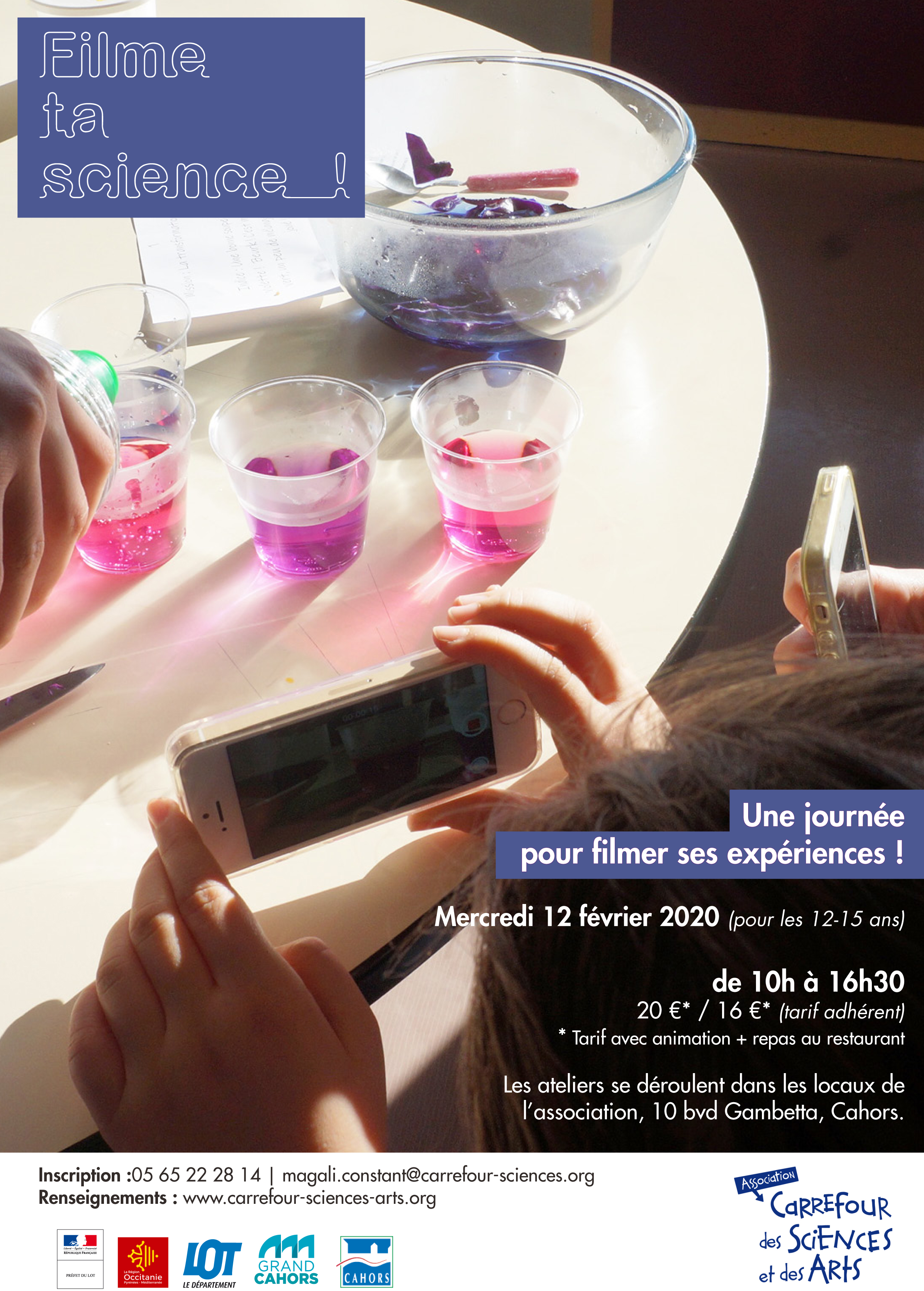 Figeac : Film ta Science ! Stage Science 12-15 ans