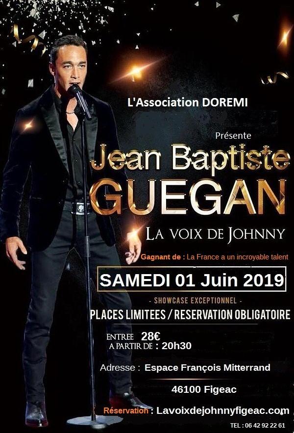 Figeac : Concert Jean Baptiste Guegan, la Voix d Johnny
