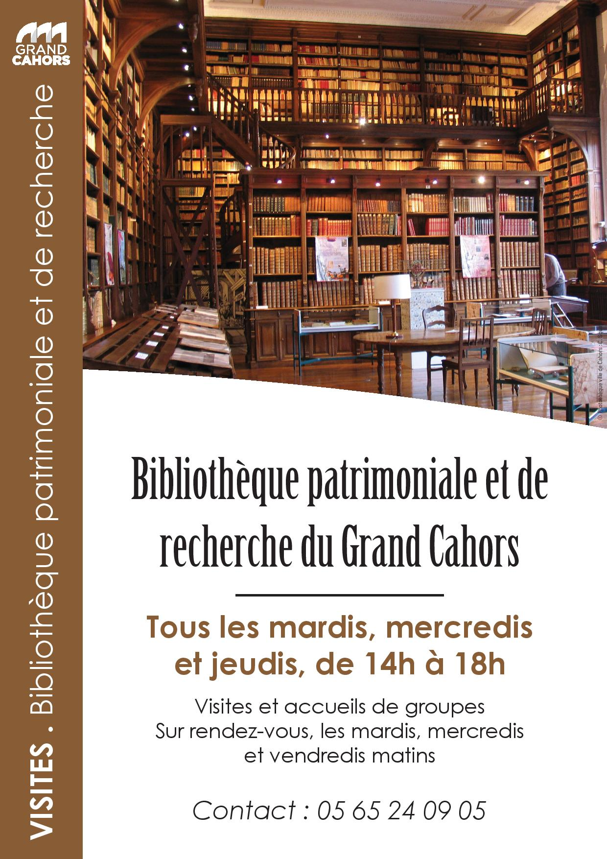 Figeac : Visite : Bibliothèque Patrimoniale & de Recherche du Grand Cahors