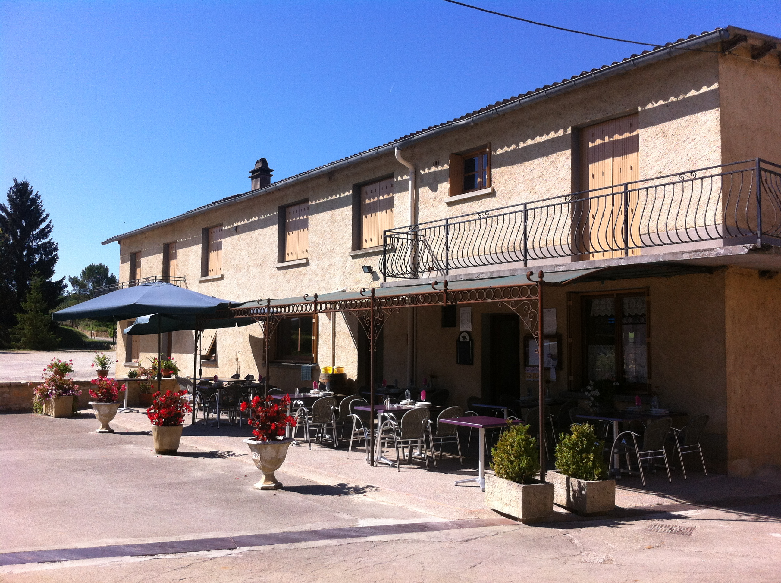 Chez Jeanne - la terrasse