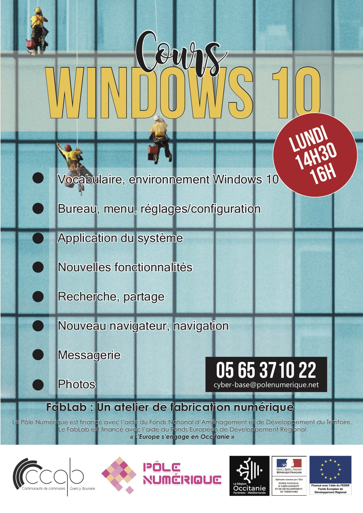 PN - Affiche Atelier Windows10 2019
