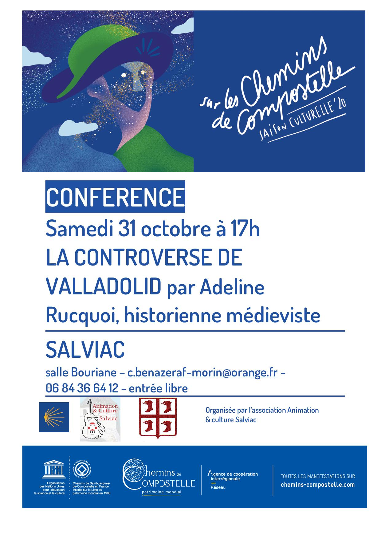 affiche conference 31.10.2020 Salviac