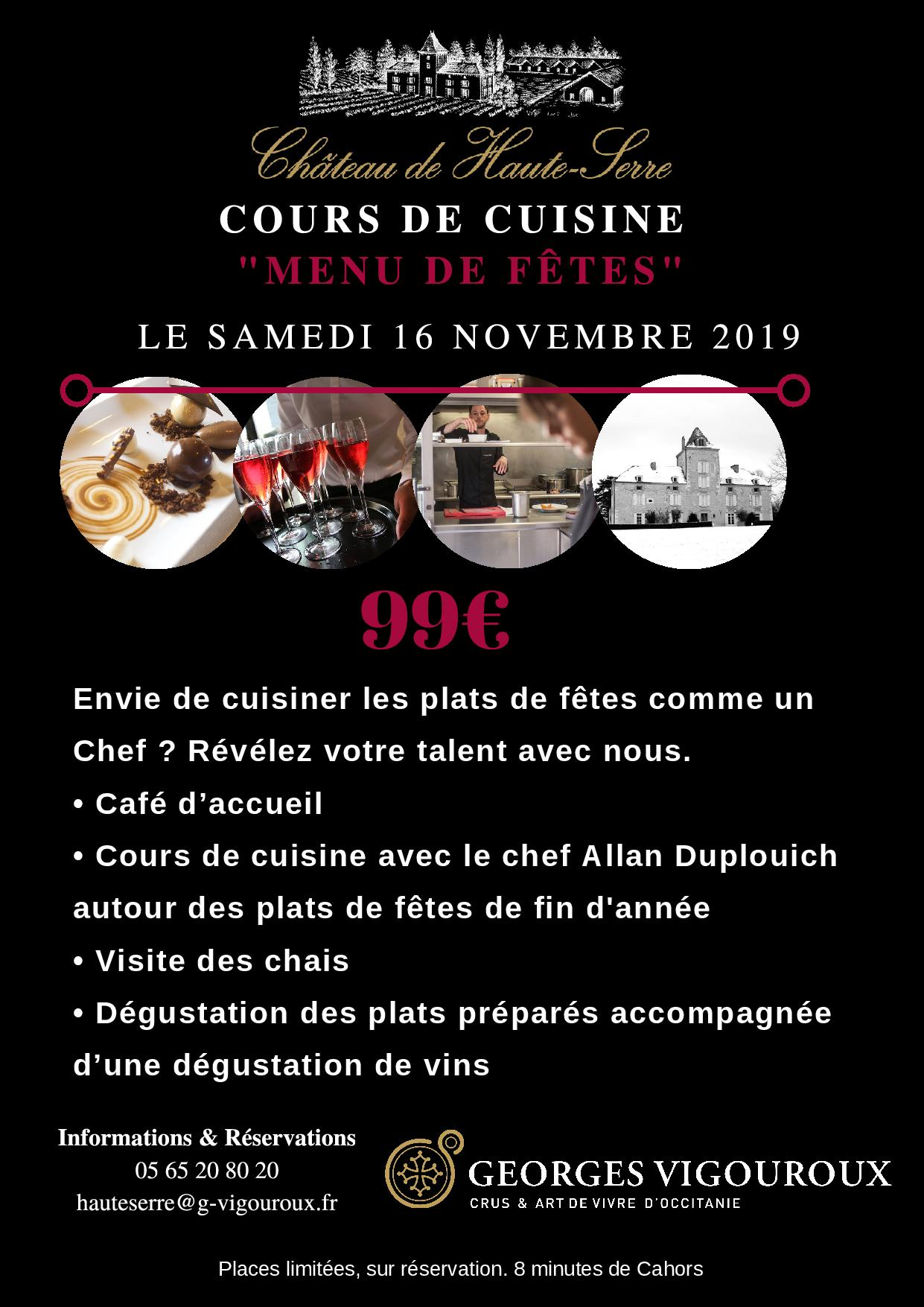Figeac : Cours de Cuisine :
